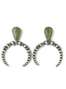 Royston Boulder Turquoise Naja Beaded Earrings (ER5889)