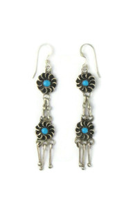 Turquoise Flower Dangle Earrings (ER5879)
