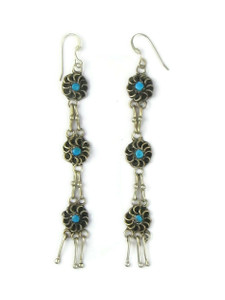 Turquoise Flower Dangle Earrings (ER5890)