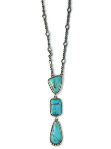 Kingman Turquoise Drop Necklace (NK4884)