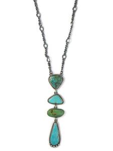 Kingman Turquoise Drop Necklace (NK4885)