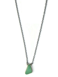 Small Kingman Turquoise Pendant Necklace (NK4890)