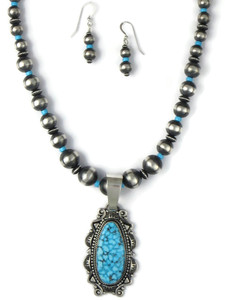 Kingman Turquoise Necklace Set by Derrick Gordon (NK4891)
