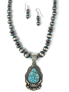 Kingman Turquoise Necklace Set by Derrick Gordon (NK4892)