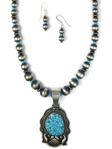 Kingman Turquoise Necklace Set by Derrick Gordon (NK4894)