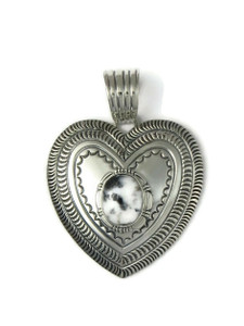 White Buffalo Heart Pendant by June Defauito (PD4385)