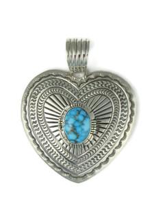 Kingman Turquoise Heart Pendant (PD4388)