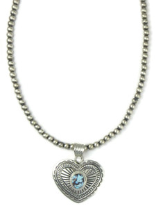 Golden Hills Turquoise Heart Pendant Necklace (NK4897)