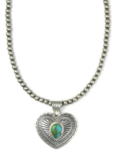 Sonoran Turquoise Heart Pendant Necklace (NK4899)