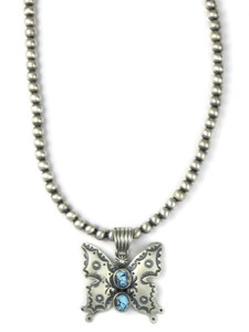 Golden Hills Turquoise Butterfly Necklace (NK4903)