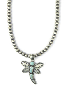 Dry Creek Turquoise Dragonfly Necklace (NK4910)