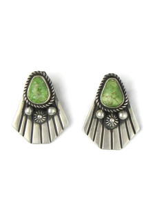 Green Turquoise Earrings (ER5891) by Albert Jake