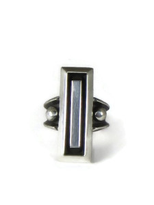 Silver Bar Ring Size 7 by Cooper Willie (RG5177)