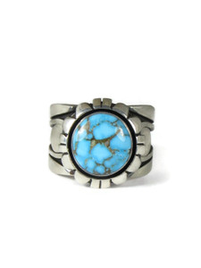 Kingman Turquoise Ring Size 11 by Cooper Willie (RG5178)