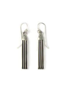 """Silver Channel Earrings 1 3/4"""" by Francis Jones (ER5892)"""