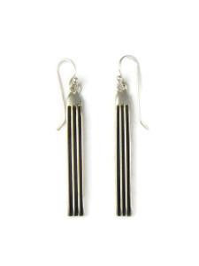"""Silver Channel Earrings 2 1/4"""" by Francis Jones (ER5894)"""