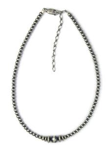 Silver Bead Necklace (NK4913)