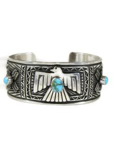 Kingman Turquoise Thunderbird Bracelet (BR6445)