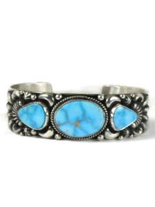 Kingman Turquoise Bracelet by Tsosie White (BR6450)