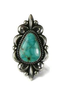 Kingman Tuquoise Ring Size 7 by Albert Jake (RG5184)