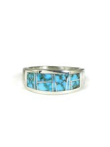 Webbed Kingman Turquoise Inlay Ring Size 12 (RG5195-S12)
