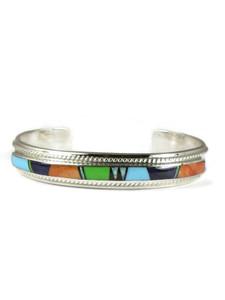 Multi Gemstone Inlay Bracelet - Small (BR7121)