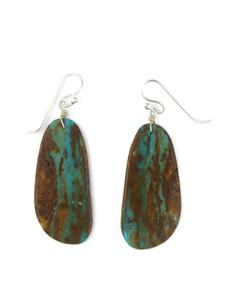 Boulder Turquoise Slab Earrings (ER5910)
