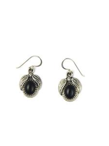 Silver Onyx Dangle Earrings (ER5946)
