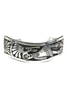 Silver Kokopelli Bracelet by Freddy Charley (BR6463)