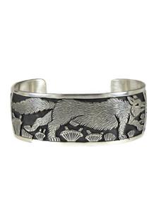 Silver Wolf Bracelet by Freddy Charley (BR6464)