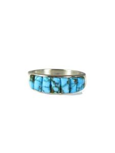 Kingman Turquoise Inlay Ring Size 13 3/4 (RG6009)