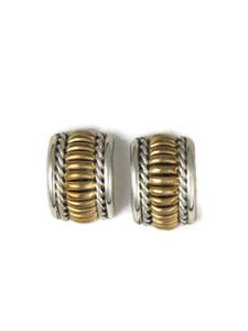 Gold & Silver Half Hoop Earrings (ER5965)