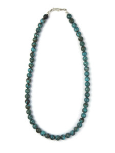"""Chinese Turquoise 8mm Beads 17 1/2"""" (NK4920)"""
