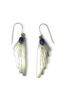 Lapis Silver Dangle Earrings (ER5967)