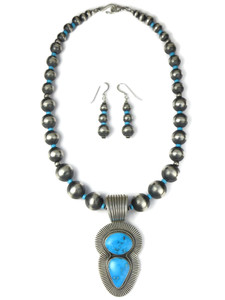 Sonoran Blue Turquoise Necklace Set by Albert Jake (NK4933)