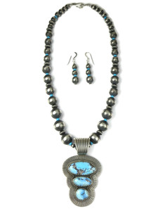 Golden Hills Turquoise Necklace Set by Albert Jake (NK4934)