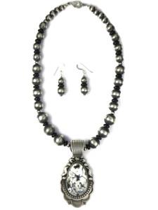 White Buffalo Necklace Set by Albert Jake (NK4935)