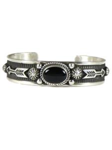Onyx Silver Arrow Bracelet by Albert Jake (BR6566)