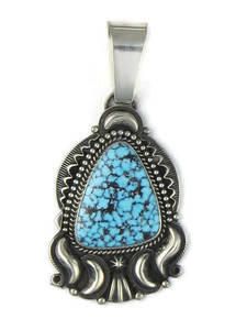 Webbed Kingman Turquoise Pendant by Derrick Gordon (PD5023)
