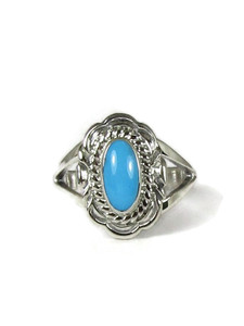 Sleeping Beauty Turquoise Ring Size 8 by Virgil Chee (RG6024-S8)