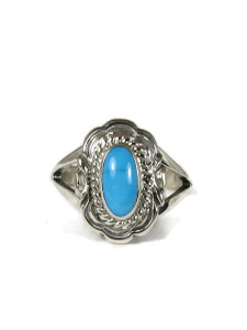 Sleeping Beauty Turquoise Ring Size 9 by Virgil Chee (RG6025-S9)