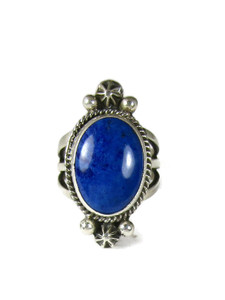 Silver Lapis Ring Size 7 by Geneva Apachito (RG6032)