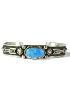 Kingman Turquoise Bracelet with Arrows by Albert Jake (BR6567)