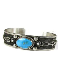 Kingman Turquoise Bracelet with Arrows by Albert Jake (BR6569)