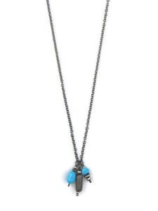 Turquoise & Smokey Quartz Necklace (NK4941)