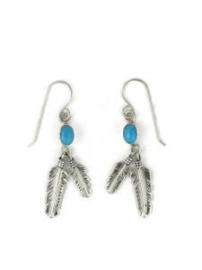 Sleeping Beauty Turquoise Feather Earrings (ER5951)