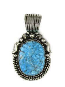 Kingman Webbed Turquoise Pendant by Albert Jake (PD5034)