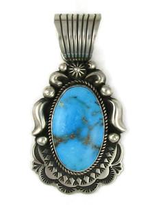 Kingman Turquoise Pendant by Albert Jake (PD5035)