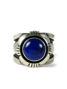 Silver Lapis Ring Size 8 By Cooper Willie (RG6039)