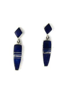 Lapis Inlay Earrings by Julius Burbank (ER5973)